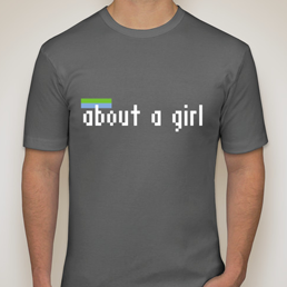 New About A Girl Fitted T-Shirt